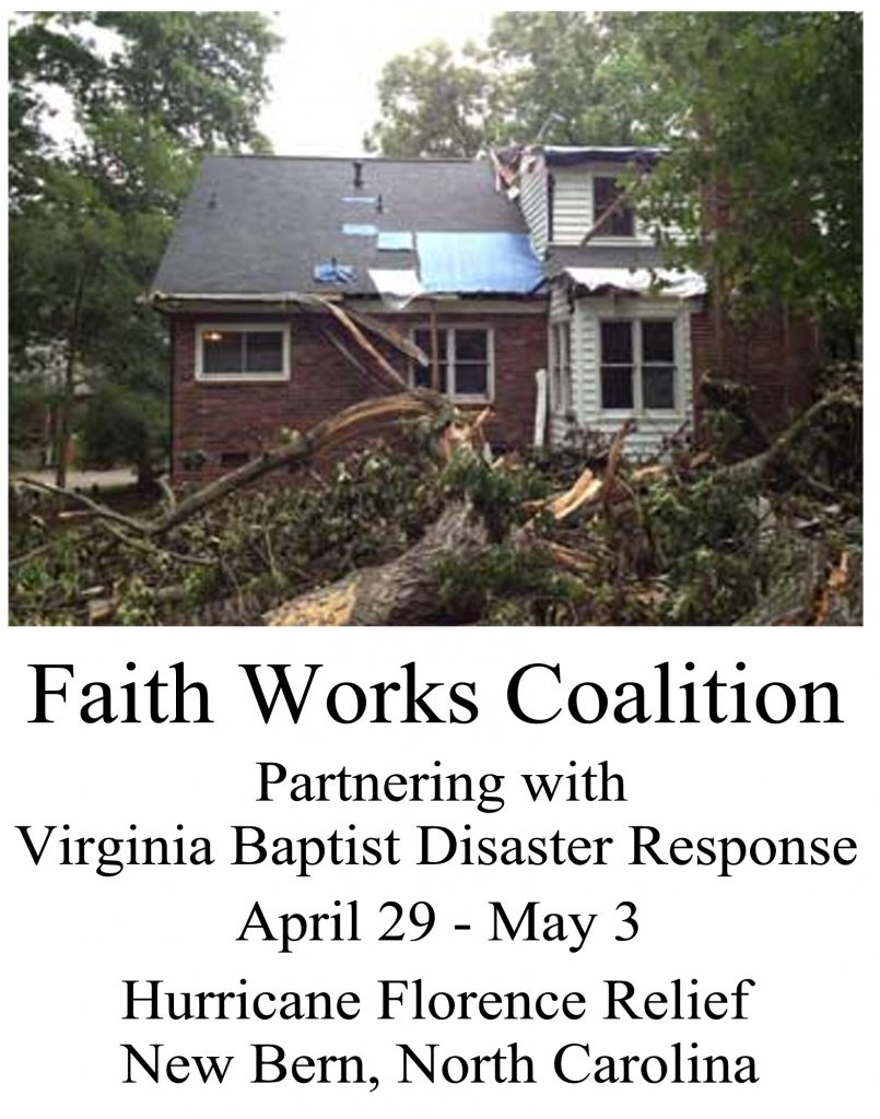 Disaster Relief Project – April 2019 – King's Grant Baptist