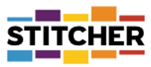This image has an empty alt attribute; its file name is stitcher-logo-white.jpg